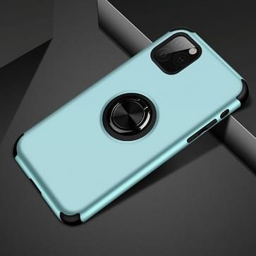 Voor iPhone 11 Pro Cool Series Shockproof TPU + PC Beschermhoes met onzichtbare ringhouder (Sky Blue)