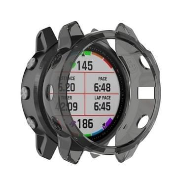 Voor Garmin fenix 6S/6S Pro Smart Watch halve dekking TPU beschermhoes (transparant zwart)