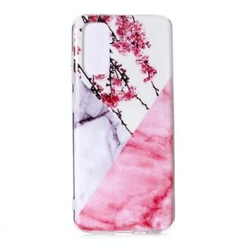 Voor Galaxy S20 Marmeren patroon zachte TPU beschermhoes (Plum Blossom)