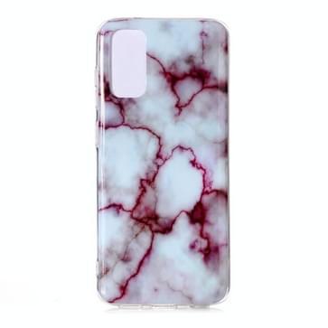 Voor Galaxy S20 Marble Pattern Soft TPU Beschermhoes (Rood)