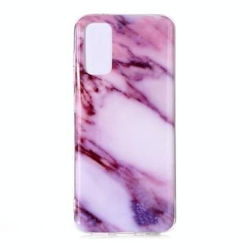 Voor Galaxy S20 Marble Pattern Soft TPU Beschermhoes(Paars)