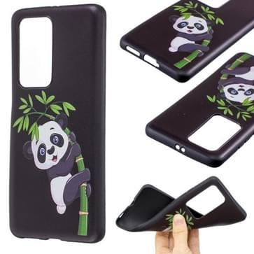 Voor Huawei P40 Pro Reliëf Patroon TPU Soft Cover Case (Panda Bamboo)