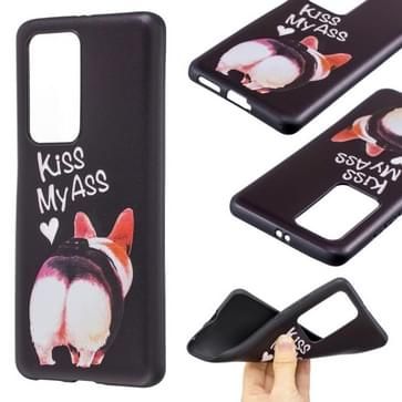 Voor Huawei P40 Pro Embossment Patterned TPU Soft Cover Case (Kiss My Ass)
