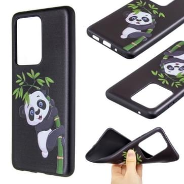 Voor Galaxy S20 Ultra Reliëf Patroon TPU Soft Cover Case (Panda Bamboo)