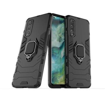 Voor OPPO FIND X2 Shockproof PC + TPU beschermhoes met magnetische ringhouder (zwart)
