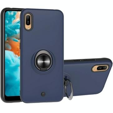 Voor Huawei Y6 Pro 2019 2 In 1 PC + TPU beschermhoes met 360 graden roterende ringhouder (Royal Blue)