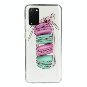 Voor Galaxy S20+ Transparante TPU Mobile Phone Beschermhoes (Macaron)