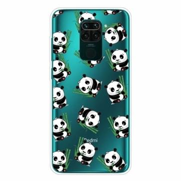 Voor Xiaomi Redmi Note 9 Shockproof Painted Transparent TPU Protective Case(Panda)
