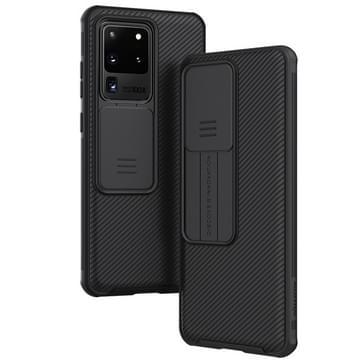 Voor Galaxy S20 Ultra / S20 Ultra 5G NILLKIN Black Mirror Pro Series Camshield Full Coverage Stofbestendige krasbestendige mobiele telefoon case(Zwart)