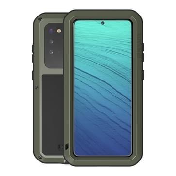 Voor Galaxy S20 LOVE MEI Metal Shockproof Waterproof Dustproof Protective Case (Army Green)