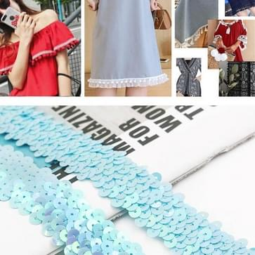 LP000330 Drierijs elastische verbinding sequins Lace Belt DIY kleding accessoires  lengte: 45.72m  breedte: 3cm (Lichtblauw)