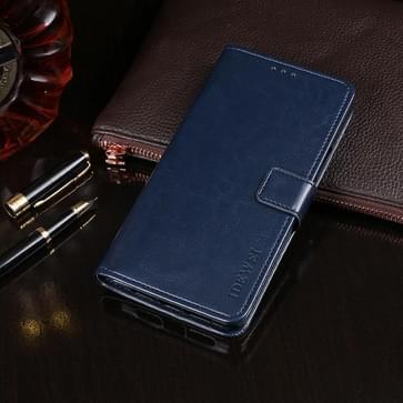 Voor LG V50 ThinQ 5G idewei Crazy Horse Texture Horizontale Flip Lederen Kast met Holder & Card Slots & Wallet(Donkerblauw)