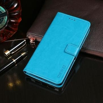 Voor Vivo Y9s idewei Crazy Horse Texture Horizontale Flip Lederen Case met Holder & Card Slots & Wallet (Sky Blue)