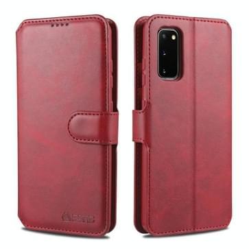 Voor Samsung Galaxy S20 Plus AZNS Kalftextuur horizontale flip lederen hoes  met Holder & Card Slots & Wallet & Photo Frame(Red)