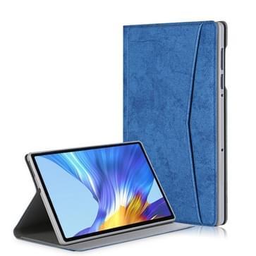 Voor Lenovo Tab M10 Plus Marmeren doek textuur horizontale flip lederen behuizing met kaartslot & houder (donkerblauw)