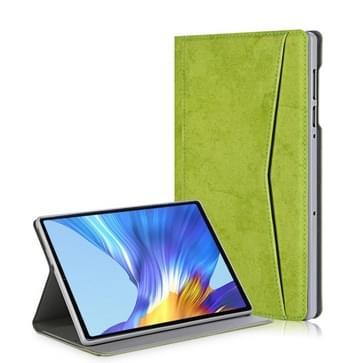 Voor Lenovo Tab M10 Plus Marmeren doek textuur horizontale flip lederen behuizing met kaartslot & houder(groen)