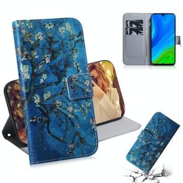 Voor Huawei P Smart 2020 Gekleurde tekening horizontale flip lederen kast met houder & kaartslot & portemonnee(abrikoos)