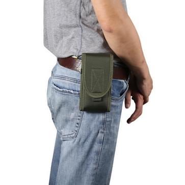 Voor 5 3 inch en onderstaande telefoons multifunctionele universele verticale nylon stof taille tas tactische riem tas (groen)
