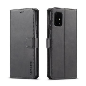 Voor Samsung Galaxy A51 5G LC.IMEEKE Kalf texture horizontale flip lederen kast  met Holder & Card Slots & Wallet & Photo Frame(Zwart)