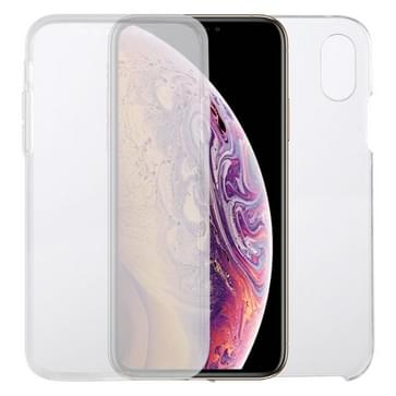 Voor iPhone XS & X PC+TPU Ultra-dunne dubbelzijdige all-inclusive transparante behuizing