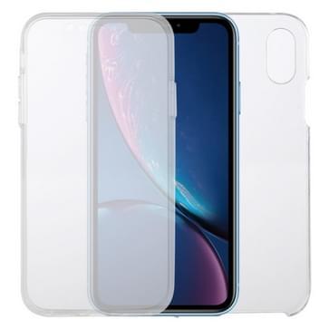 Voor iPhone XR PC+TPU Ultra-dunne dubbelzijdige all-inclusive transparante behuizing