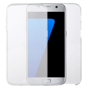 Voor Samsung Galaxy S7 Edge PC+TPU Ultra-dunne dubbelzijdige all-inclusive transparante behuizing