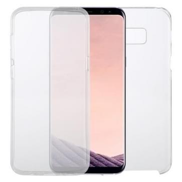 Voor Samsung Galaxy S8+ PC+TPU Ultra-dunne dubbelzijdige all-inclusive transparante behuizing