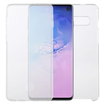 Voor Samsung Galaxy S10 PC+TPU Ultra-dunne dubbelzijdige all-inclusive transparante behuizing