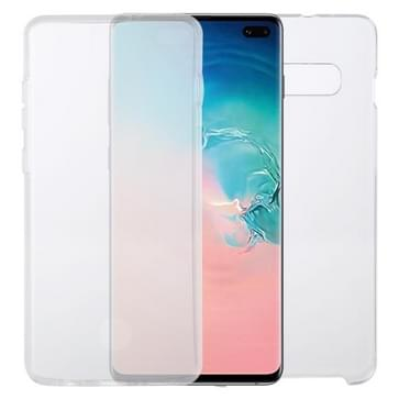 Voor Samsung Galaxy S10+ PC+TPU Ultra-dunne dubbelzijdige all-inclusive transparante behuizing