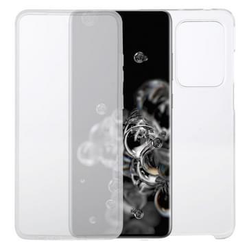 Voor Samsung Galaxy S20 Ultra PC+TPU Ultra-dunne dubbelzijdige all-inclusive transparante behuizing