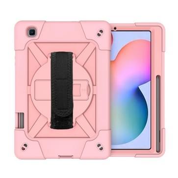 Voor Samsung Galaxy Tab S6 Lite P610 Contrast Color Robot Schokbestendig Silicium + PC Beschermhoes met Holder & Pen Slot (Rose Gold)