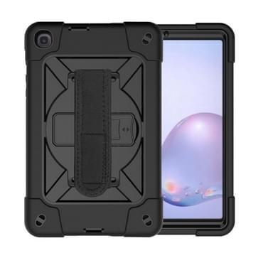Voor Samsung Galaxy Tab A8.4 (2020) T307 Contrast Color Robot Shockproof Silicon + PC Beschermhoes met houder & pensleuf(zwart)