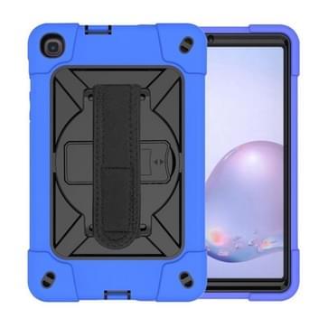 Voor Samsung Galaxy Tab A8.4 (2020) T307 Contrast Color Robot Shockproof Silicon + PC Beschermhoes met houder & pensleuf (Donkerblauw)