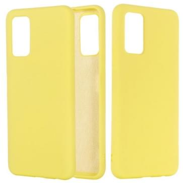 Voor Samsung Galaxy Note20 5G Pure Color Liquid Siliconen Schokbestendige full coverage case (geel)