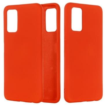 Voor Samsung Galaxy Note20 5G Pure Color Liquid Siliconen Schokbestendige full coverage case(Rood)