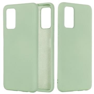 Voor Samsung Galaxy Note20 5G Pure Color Liquid Siliconen Schokbestendige Full Coverage Case (Groen)