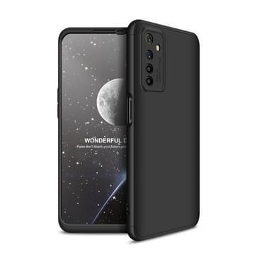 Voor OPPO Realme 6 GKK Three Stage Splicing Full Coverage PC Protective Case(Black)
