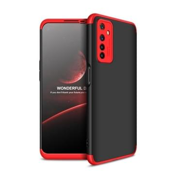 Voor OPPO Realme 6 GKK Three Stage Splicing Full Coverage PC Protective Case (Black Red)