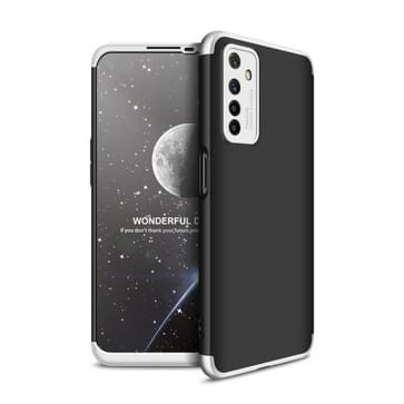 Voor OPPO Realme 6 GKK Three Stage Splicing Full Coverage PC Protective Case (Black Silver)