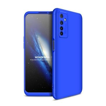 Voor OPPO Realme 6 GKK Three Stage Splicing Full Coverage PC Protective Case(Blue)
