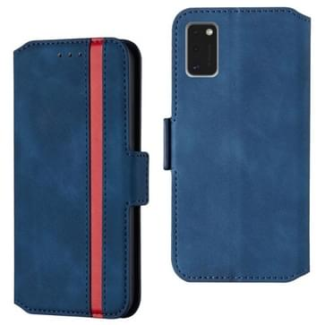 Voor Samsung Galaxy A41 Retro Frosted Oil Side Horizontale Flip Case met Holder & Card Slots(Blauw)