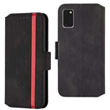 Voor Samsung Galaxy A41 Retro Frosted Oil Side Horizontale Flip Case met Holder & Card Slots(Zwart)