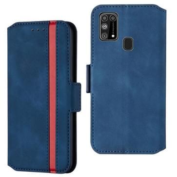Voor Samsung Galaxy M31 Retro Frosted Oil Side Horizontale Flip Case met Holder & Card Slots(Blauw)