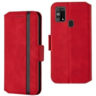 Voor Samsung Galaxy M31 Retro Frosted Oil Side Horizontale Flip Case met Holder & Card Slots(Red)