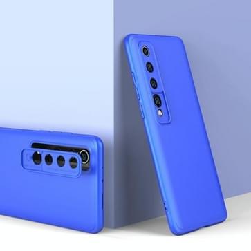 Voor Xiaomi Mi 10 GKK Three Stage Splicing Full Coverage PC Protective Case(Blauw)