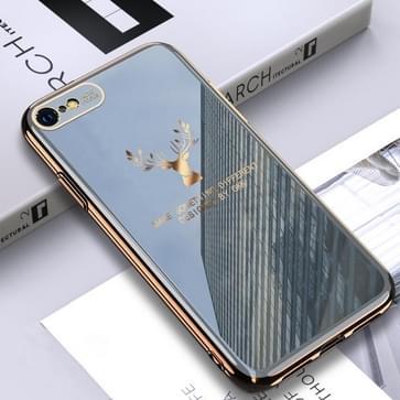Voor iPhone SE 2020 / 8 / 7 GKK PC + Solid Color Plating Protective Case(Grijs)