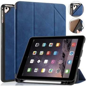 Voor iPad 9 7 inch DG. MING See Series Horizontale Flip Lederen Kast met houder & penhouder(blauw)