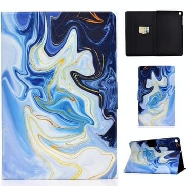 Voor Samsung Galaxy Tab A 10.1 (2019) T515 / T510 Voltage Painted Pattern Tablet PC Protective Leather Case met Bracket & Card Slots & Anti-skid Strip (Blue Marble)