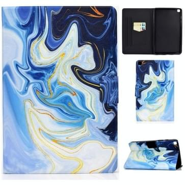 Voor Samsung Galaxy Tab A 8.0 (2019) T290 / T295 Voltage Painted Pattern Tablet PC Protective Leather Case met Bracket & Card Slots & Anti-skid Strip(Blue Marble)