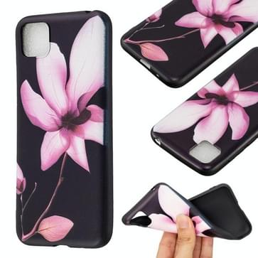 Voor Huawei Y5p / Honor 9S reliëf patroon TPU Soft Protector Cover Case (Lotus)